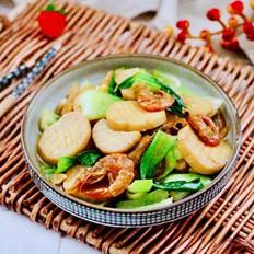 杏鲍菇虾干青菜小炒