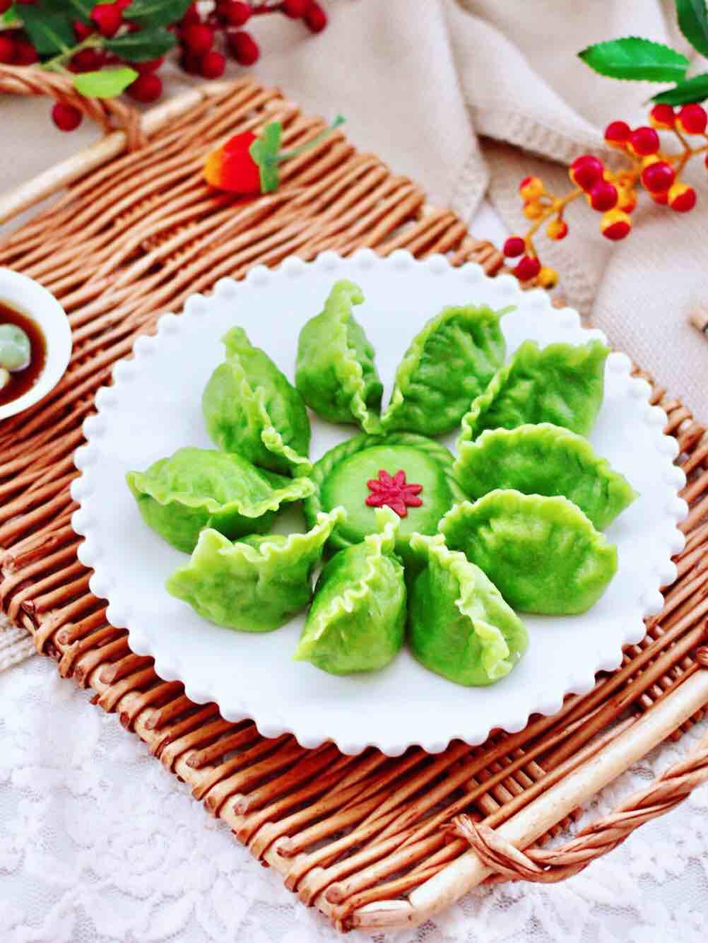 扇贝香干翠玉饺子