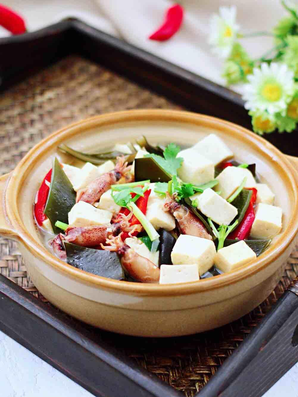 海带海兔豆腐汤