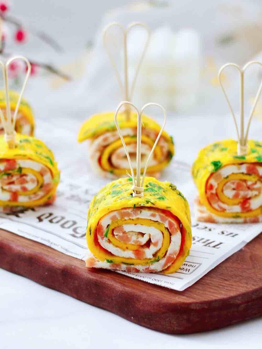 日式火腿鸡蛋卷的做法