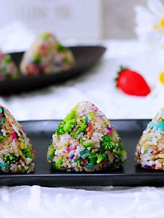 藜麦海苔五彩米饭团的做法