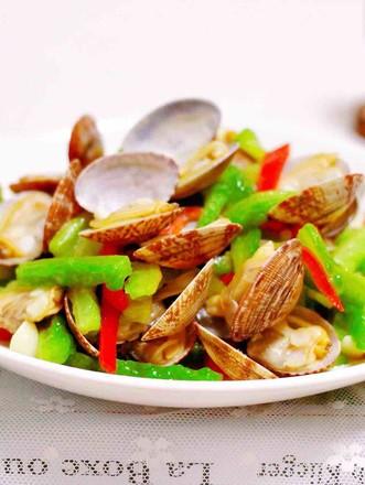 苦瓜辣炒花蛤的做法