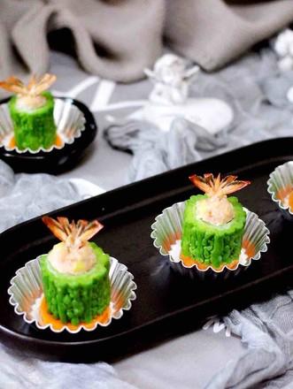 虾仁肉靡酿苦瓜的做法
