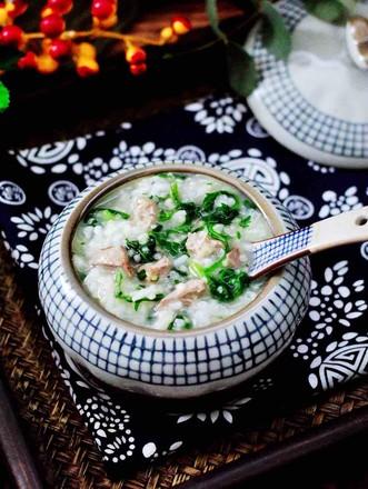 猪肝茼蒿粥的做法