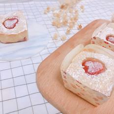 鲜草莓奶油酥饼马芬