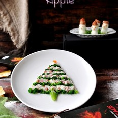 趣味圣诞树雪人餐