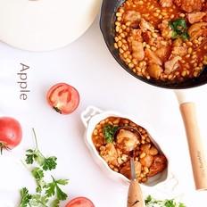 番茄黄豆炖猪蹄