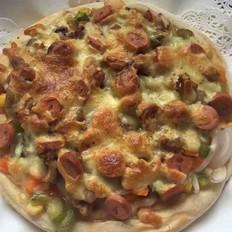 无烟厨房&火腿蔬菜披萨