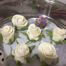 双色玫瑰馒头