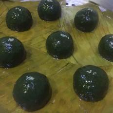 网红蛋黄肉松青团