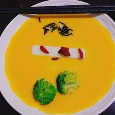 咸蛋黄金瓜野米羹