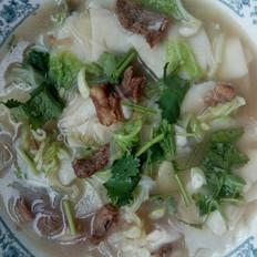 羊肉汆汤面