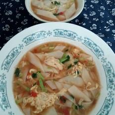 番茄西葫芦汤面
