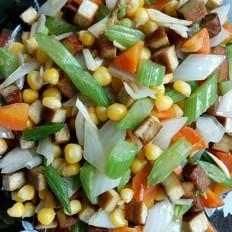 豆干玉米炒杂蔬