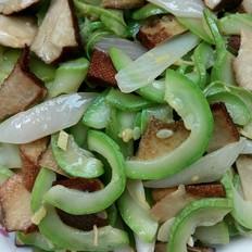 素炒豆干西葫芦