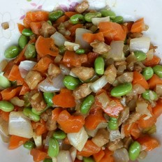 鸡肉毛豆炒杂蔬
