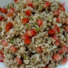 鸡肉豆豉榨菜炒米饭