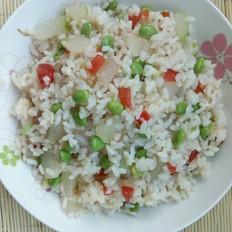 冬瓜毛豆烩米饭