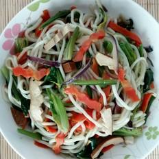 红萝卜豆干炒菠菜粉条