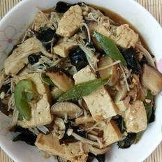 豆腐炒菌菇