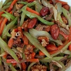 果仁牛肉炒杂蔬