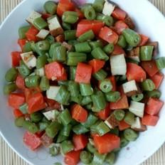 素炒豆角豆干红萝卜丁