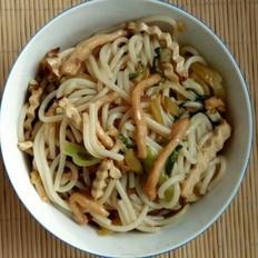 榨菜鸡肉油菜炒米粉