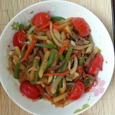 番茄牛肉炒杂蔬