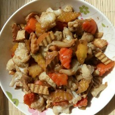 蚝油菜花萝卜
