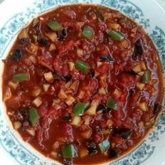 西红柿尖椒土豆酱