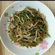 肉丝榨菜炒扁豆