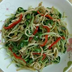 黑豆苗榨菜炒肉丝