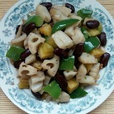 红芸豆炒藕丁