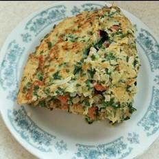 榨菜芹菜叶蛋饼