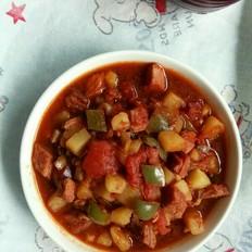 牛肉土豆番茄拌面酱