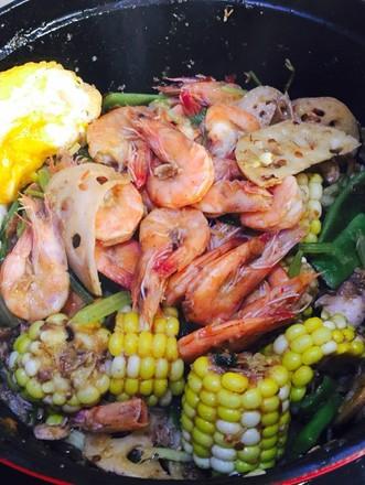 海鲜酱干锅的做法
