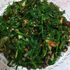 韭菜炒螺蛳肉超辣