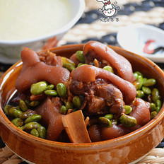 苏泊尔中华炽陶酱香猪爪焖毛豆