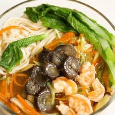 海参鲜虾鲜蔬面