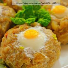 雪莲果肉饼酿鹌鹑蛋