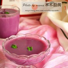 糯米紫薯糊