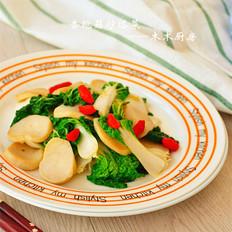 杏鲍菇炒塔菜