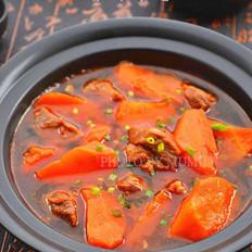 年饭硬菜胡萝卜炖牛腩