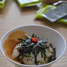 海苔酸萝卜拌饭的做法