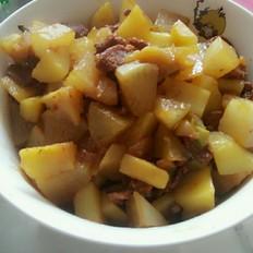 土豆炖白萝卜