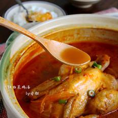 辣白菜鸡汤