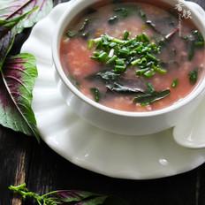 苋菜绿豆粥