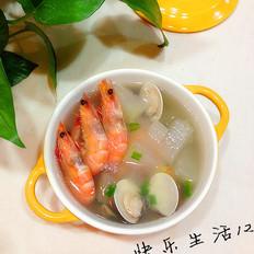鲜虾蛤蜊冬瓜汤