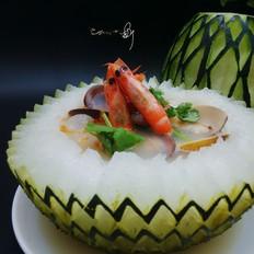 海鲜冬瓜盅