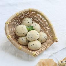 韩式黑芝麻麻薯